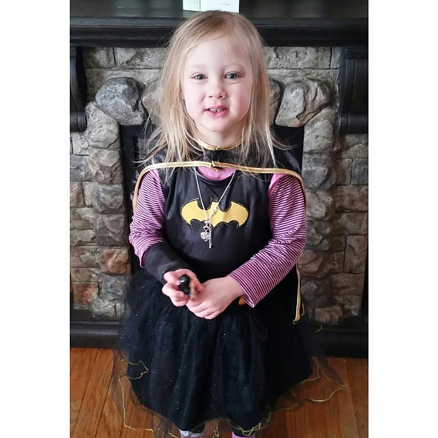 I'll be safe today! Lily woke up as batgirl!