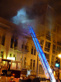#3 at the scene, fire subdued by this time, another big (4 alarm) fire in the mission district of san franciosco 1-15