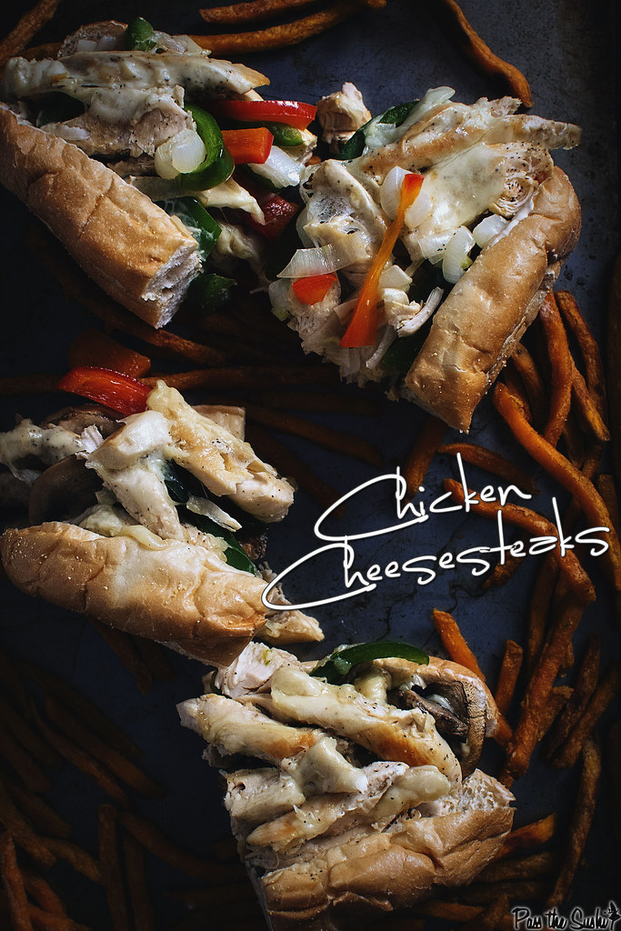 Delicious Easy Chicken Cheesesteaks Recipe \\ GirlCarnivore.com