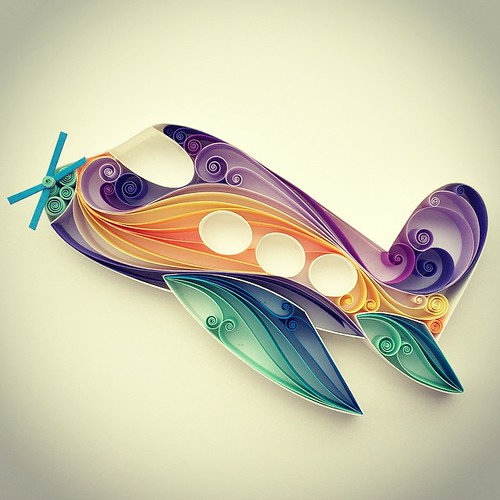 Quilled Airplane by Sena Runa