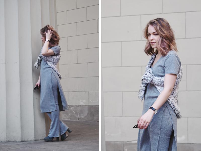 Gina Tricot pyjama set flare trousers