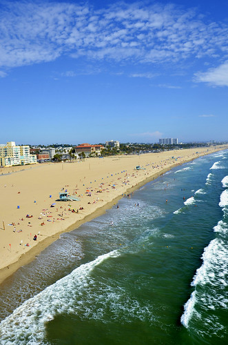 ocean california santa blue sea summer sky usa sun west green beach vertical clouds america fun coast seaside los waves view pacific angeles south united monica states