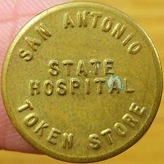 San Antonio State Hospital token obverse