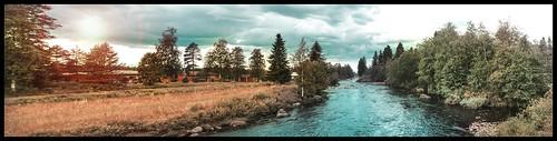 finland kannus himanka kokkola landscape nature summer sun blue river panaroma