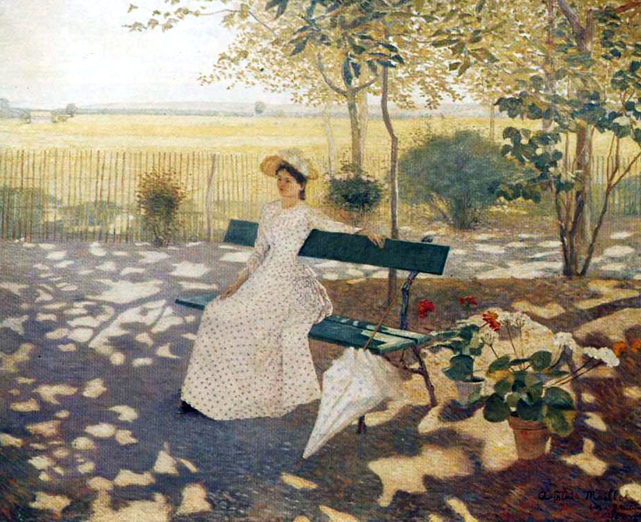 Woman Sitting with a Parasol by Aristide Maillol, 1895