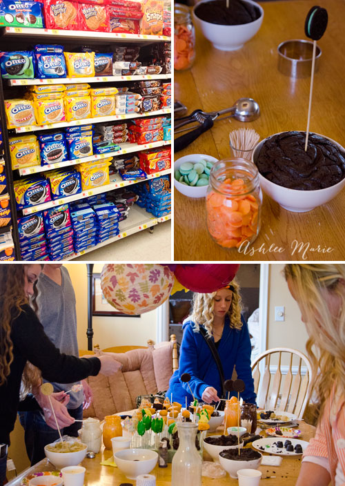 OREO has a ton of flavors now, all perfect for making cookie balls.  We had a blast at this make and take party with Thanksgiving Themed pops!