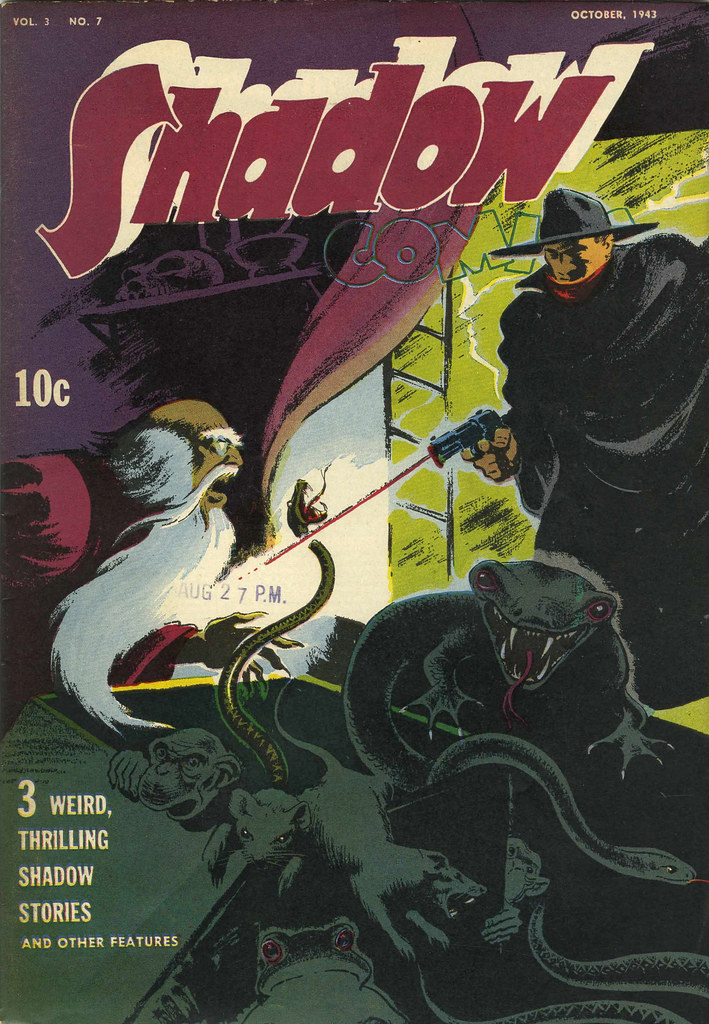 Shadow Comics V3#7 (Street & Smith, 1943) Vernon Greene Cover