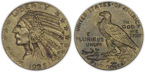 '1925' Contemporary Counterfeit Indian Half Eagle