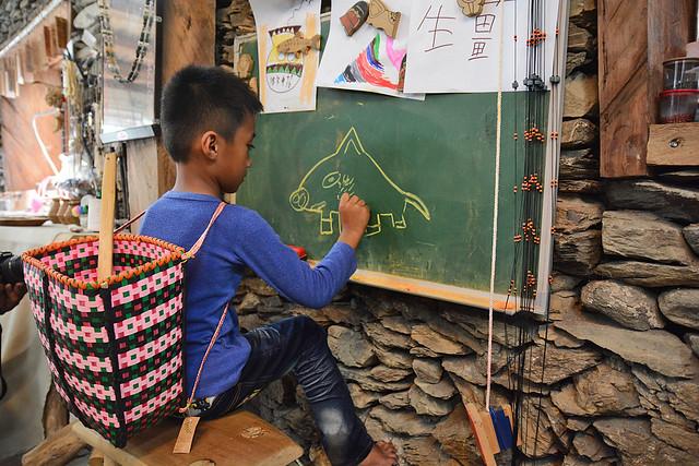 嘉蘭部落的孩子。攝影:楊維晟。