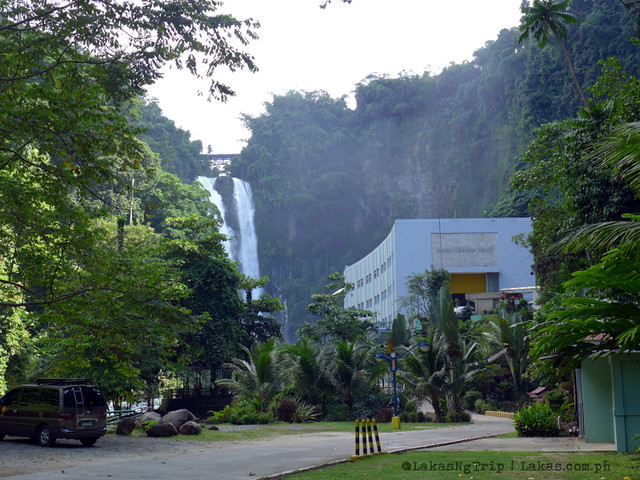 View of Maria Cristina Falls from the Zipline registration area. NPC Nature's Park. Maria Cristina Falls in Iligan City, Philippines