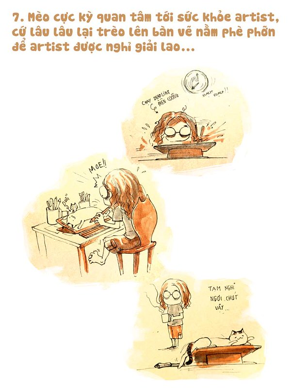 Lý do artist nên nuôi mèo