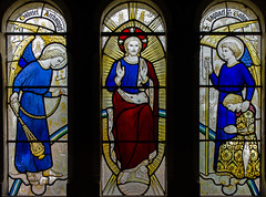 Stained glass window, St Peter's church, Newenden, Kent
