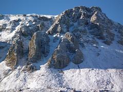 Balzi rocciosi sull'anticima del monte Meta