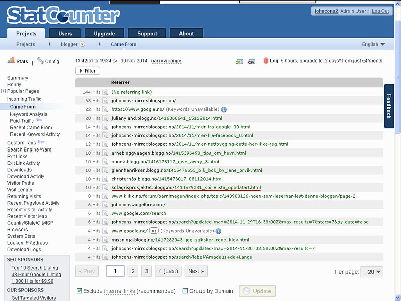 blogg statcounter