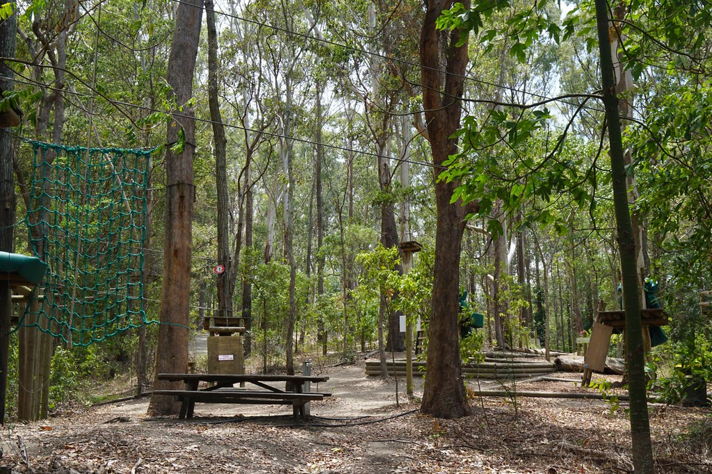 Currumbin Wildlife Sanctuary - obstacle course