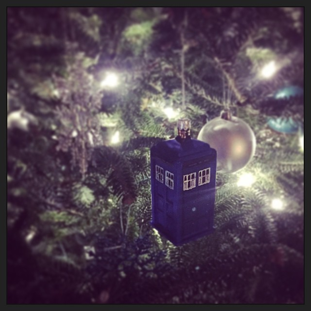 The tree is up! #yayChristmas #doctorwho