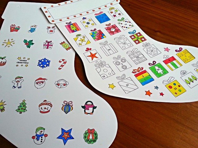 Baker Ross personalised stocking advent calendar, Baker Ross Christmas crafts