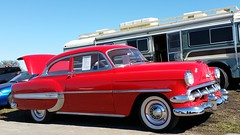 automobile, automotive exterior, vehicle, custom car, mid-size car, plymouth cranbrook, antique car, chevrolet bel air, sedan, vintage car, land vehicle, luxury vehicle, motor vehicle,