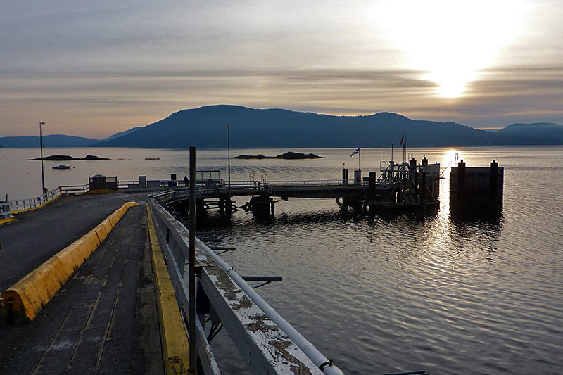 Vesuvius Ferry Terminal at Sunset, Vesuvius, Saltspring Island, Gulf Islands, British Columbia