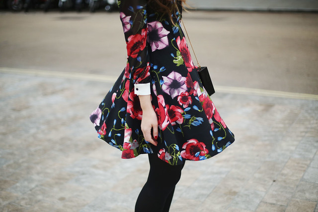 River Island Floral dress What Olivia Did