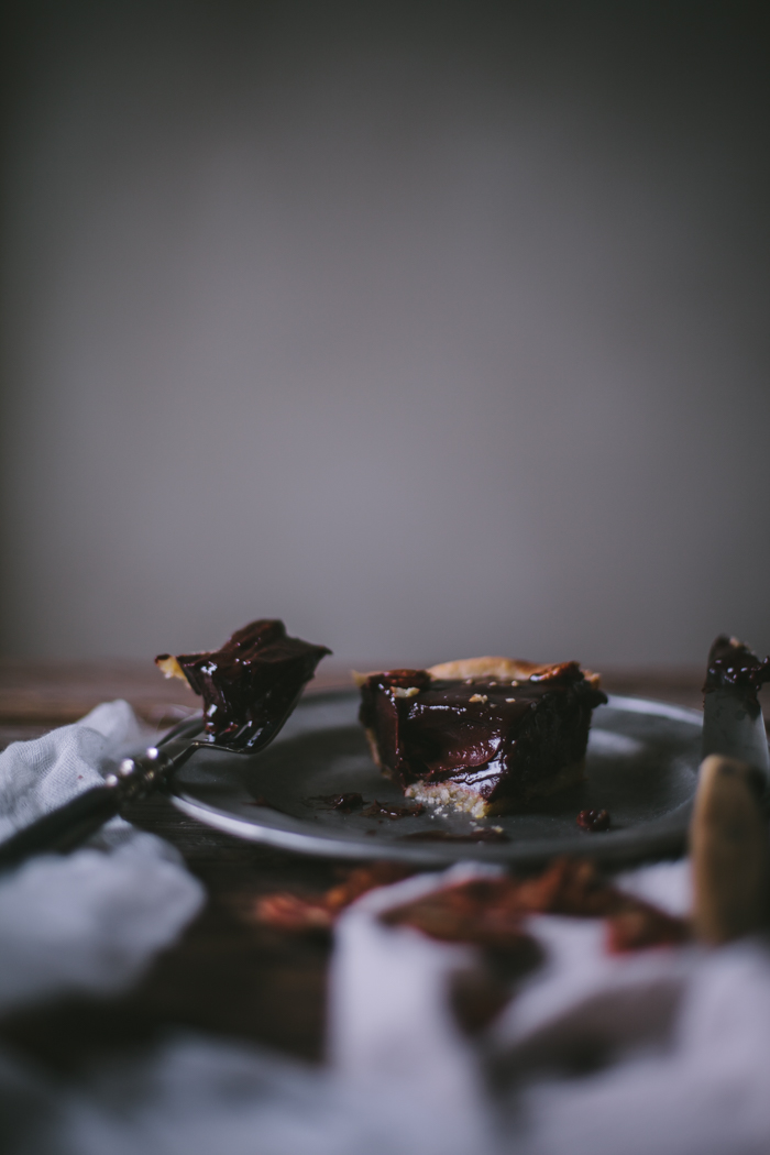 Chocolate Pecan Tart + A Finex Giveaway by Eva Kosmas Flores | Adventures in Cooking