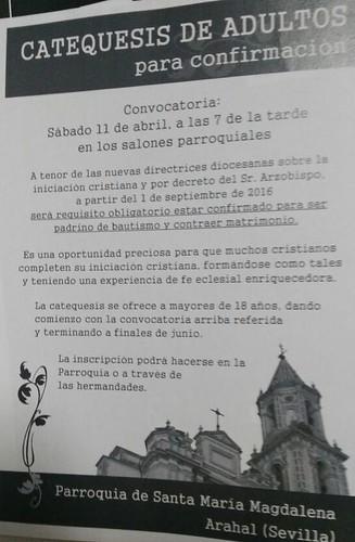 AionSur: Noticias de Sevilla, sus Comarcas y Andalucía 16088861703_05ac01188d_d La Parroquia inicia la catequesis de adultos, a partir de 2016 será obligatorio estar confirmado para ser padrino o casarse Sociedad