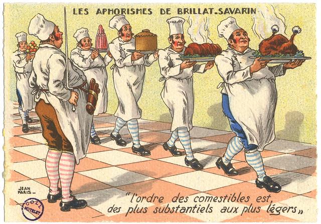 Les Aphorismes de Brillat-Savarin - carte postale par Jean Paris [FIC_GAS_ordre]