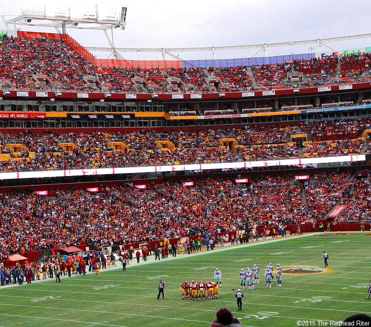 16 FedExField stadium holds so many people at dallas cowboys vs washington redskins game