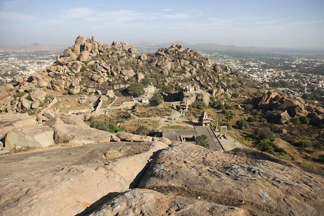 Vue depuis le haut du fort de Chitradurga