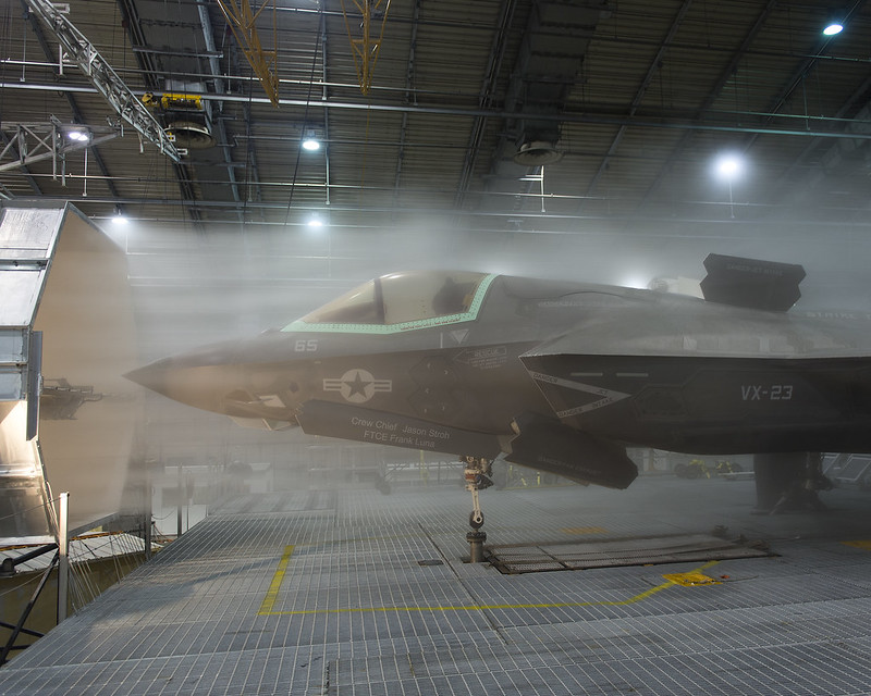 F-35 in an Ice Cloud in Climatic Lab