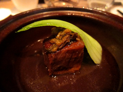 Braised King soy Wagyu beef with Merlot