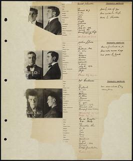 Inmate ledger, page 114: Conrad Schroeder, Arthur Lehaise, James Henderson / Registre des détenus, page 114 : Conrad Schroeder, Arthur Lehaise, James Henderson