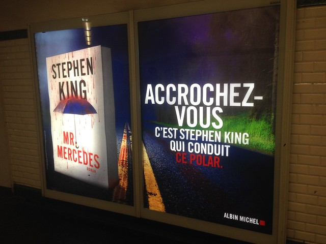Publicité Stephen King Mr Mercedes Albin Michel