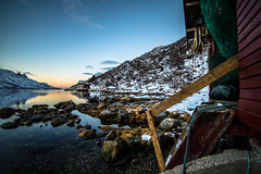 Fishing village in Vågen, Fjord-country