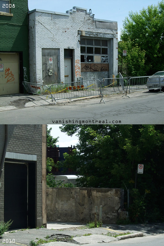 Before / After :  Dilapidated garage on William in Griffintown 2