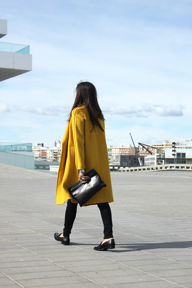 yellow coat fashion shoes coohuco 3