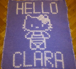 HELLO KITTY BLANKET FOR CLARA