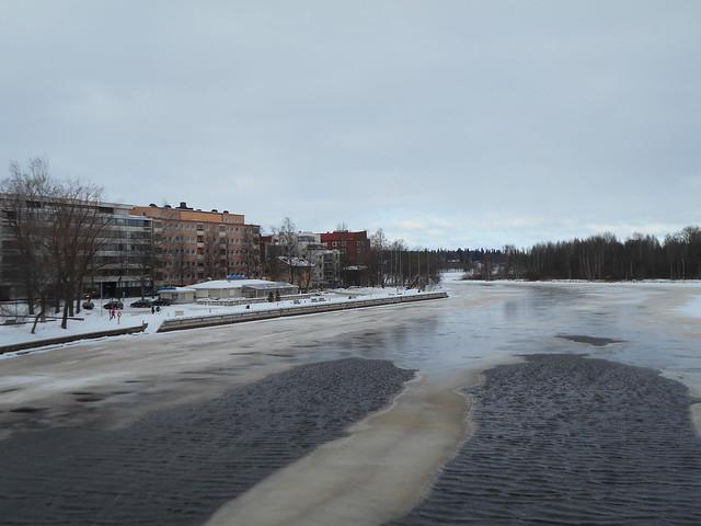 Laina-myrskyn vaikutuksia, 8.2.2015 Hämeenlinna; myrskypuuska-aallokko