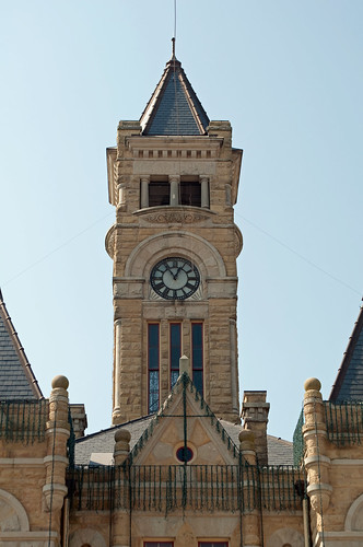 tower architecture texas courthouse romanesque courthouses revival hallettsville 1897 nationalregisterofhistoricplaces texascountycourthouses lavacacounty eugeneheiner 71000945