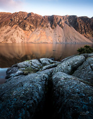 Wastwater Screes in the cooling sun