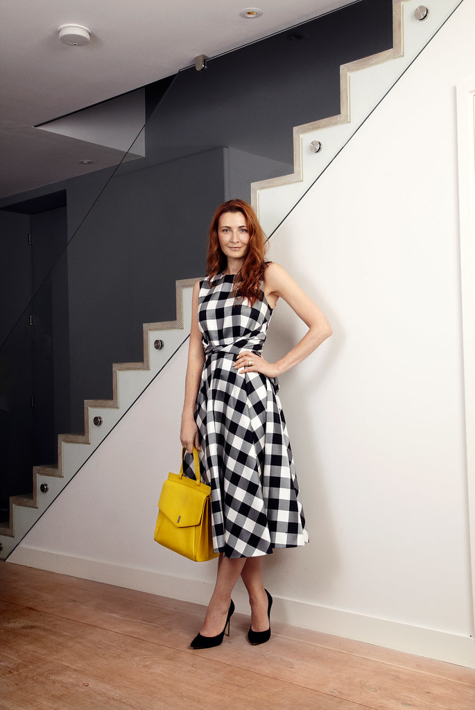 Hobbs SS15 black and white gingham dress