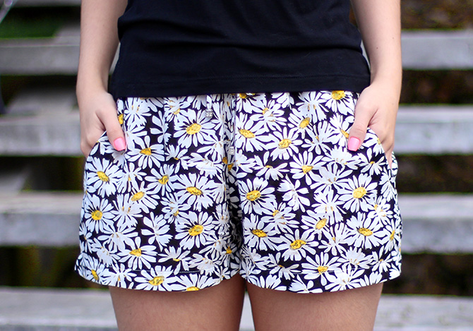 7-look do dia shorts margarida e sapatilha dourada belle Petite Jolie blog sempre glamour
