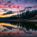 Day's Last Light - Bass Lake, California by Darvin Atkeson