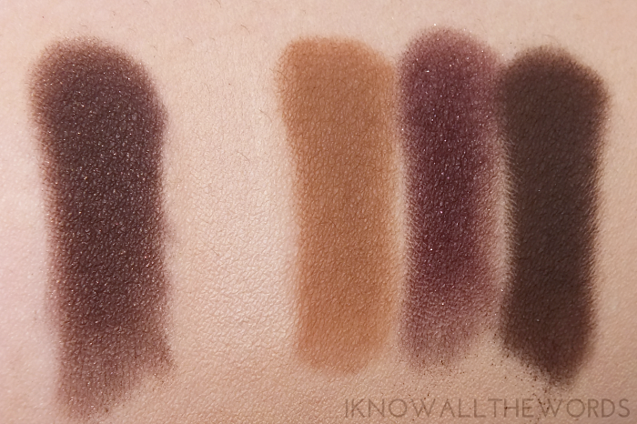 too faced chocolate bar eyeshadow palette swatches row 1