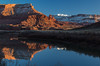 Winter reflections in red rock country