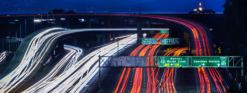california winter panorama motion color night dark oakland evening march nikon highway ramp view traffic over large overpass panoramic bayarea 24 rushhour eastbay stitched alamedacounty interchange d800 mosswood 580 2015 lightstream 980 boury pbo31