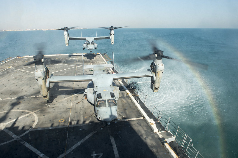 USS New York conducts flight operations.