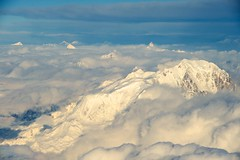 Mont Blanc in France, foreground, and the Matterhorn in Switzerland, background, as seen from U.S. Secretary of State John Kerry's aircraft on March 4, 2015, as he flew from Geneva, Switzerland, to Riyadh, Saudi Arabia, following negotiations with Iranian officials about the future of their nuclear program and en route to a meeting with King Salman of Saudi Arabia and members of the Gulf Cooperation Council. [State Department photo/ Public Domain]