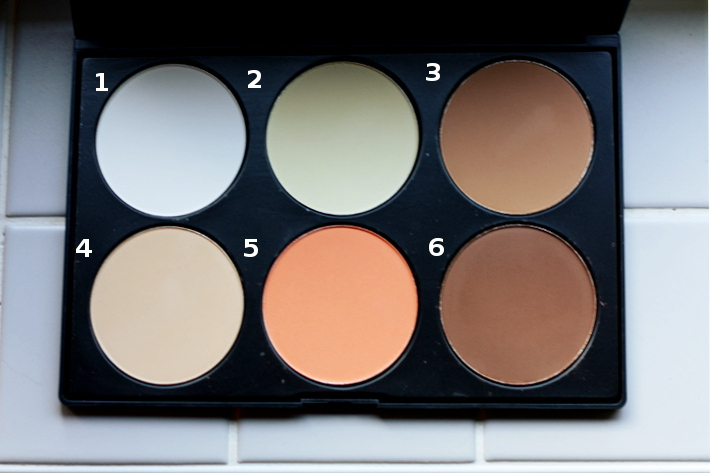 6 colors pressed powder palette: bronzer/contouring review