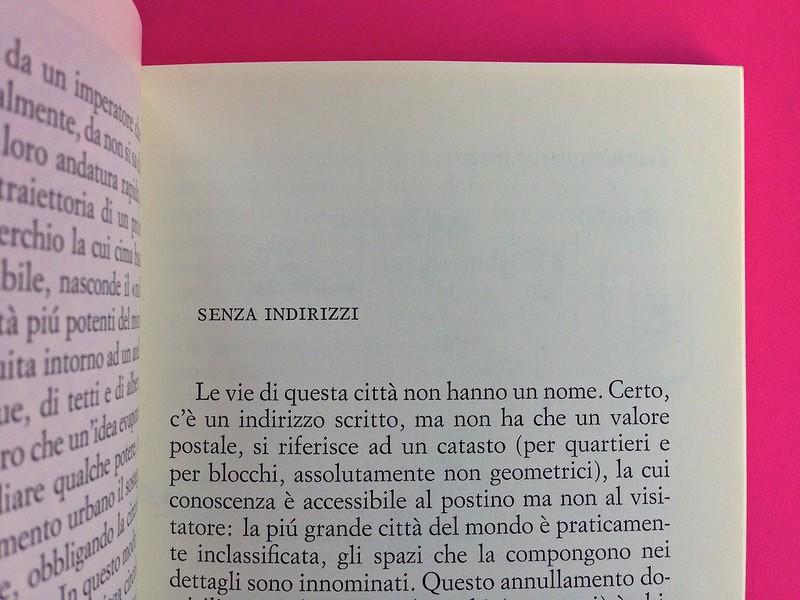 Roland Barthes, L'impero dei segni. Einaudi 1984. Indicazione del titolo del capitolo, in stampatello, a pag. 43 (part.), 1
